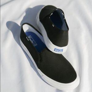 Keds Double Decker Black Dream Foam Slip Ons